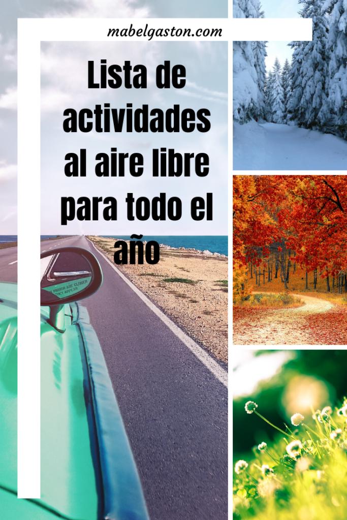 Lista de actividades al aire libre para todo el año