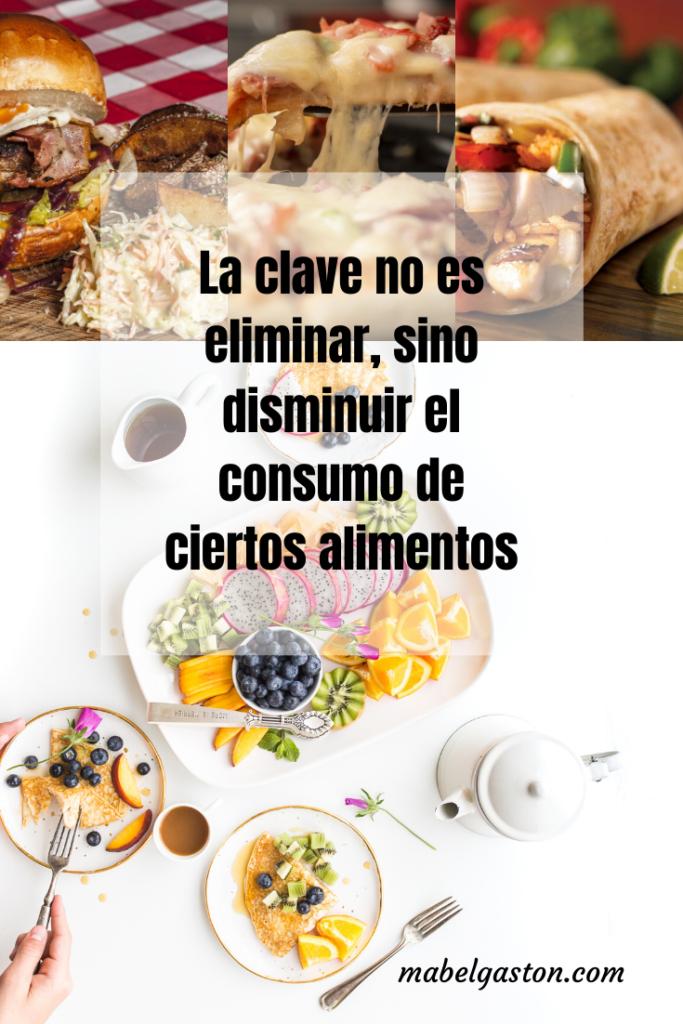 Disminuir ciertos alimentos para una vida saludable